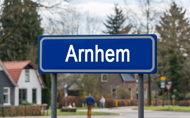 Arnhem met achtergond